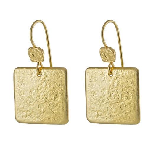 עגילים ציפוי זהב - EP0064