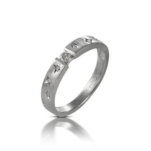 טבעת אירוסין דובדבן - RDSW0447