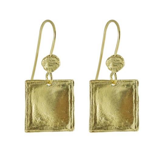 עגילים ציפוי זהב - EP0044
