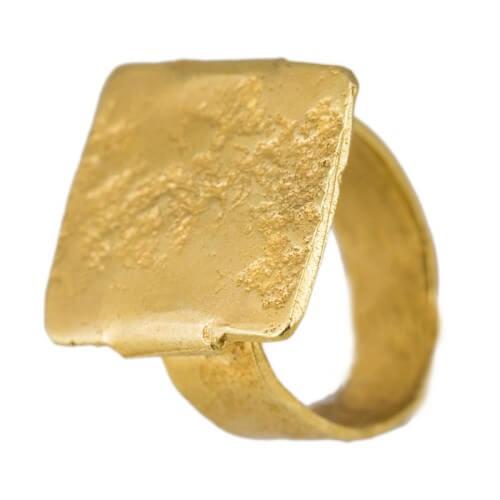 טבעת ציפוי זהב - RP1005