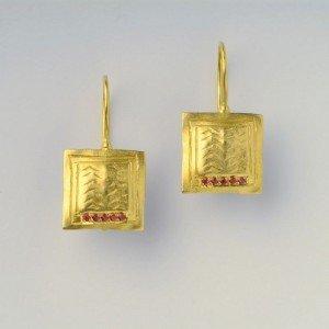 עגילי יהלומים דובדבן - EG0025R10