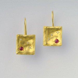 עגילי יהלומים שמש - EG012D6R2