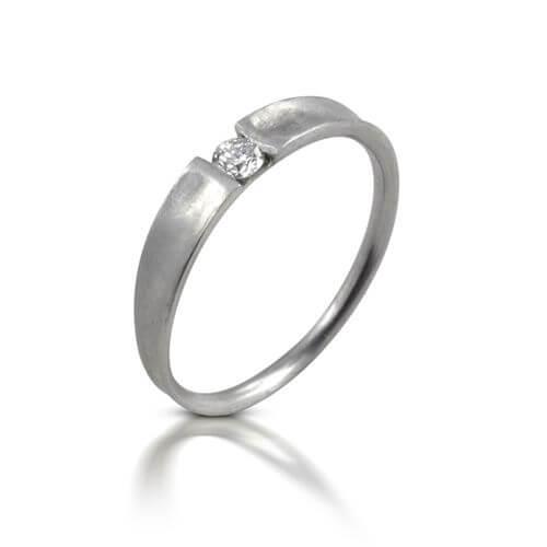 טבעת יהלום משי לבן - RDW0615