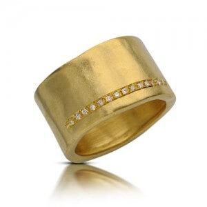 טבעת אירוסין עלי זהב - RMY0490