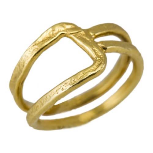 טבעת ציפוי זהב - RP1001