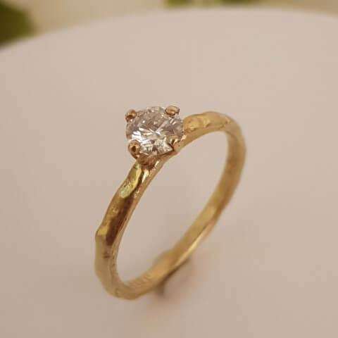 טבעת אירוסין שמיים - R692 - 18k