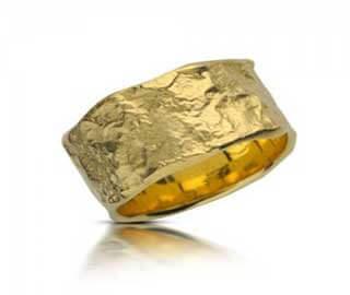 טבעת נישואין עלי זהב - RMY515