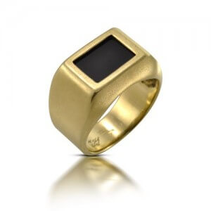 טבעת נישואין אוניקס - RJY0572