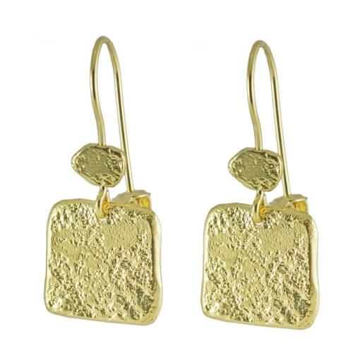 עגילים ציפוי זהב - EP0055
