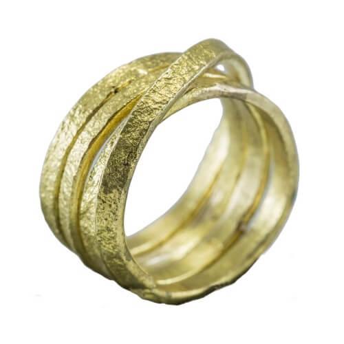 טבעת ציפוי זהב - RP1004