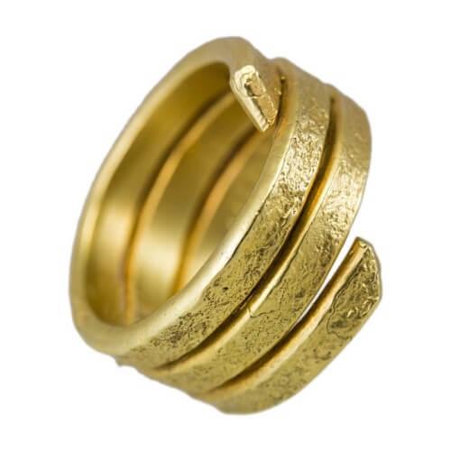טבעת ציפוי זהב - RP1002