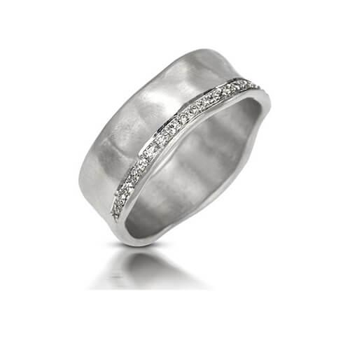 טבעת אירוסין נהר לבן - RMW0534
