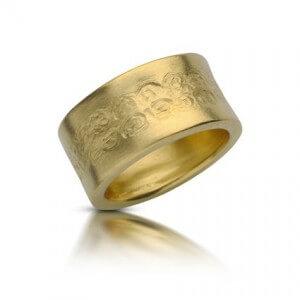 טבעת נישואין שושנים - RMY0420