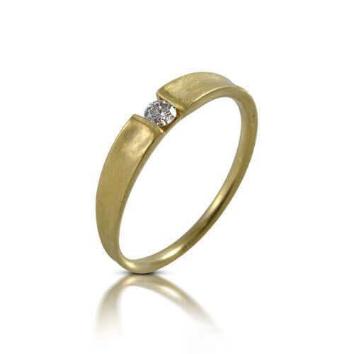 טבעת אירוסין משי זהב - RDY0615