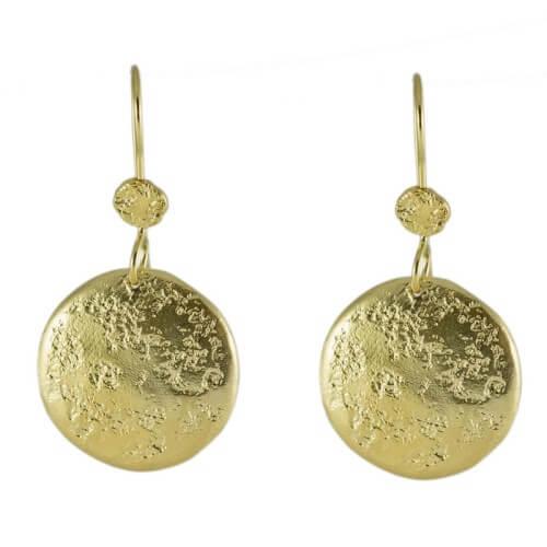 עגילים ציפוי זהב - EP0042