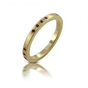 טבעת אירוסין רובי - RMY0336-RU